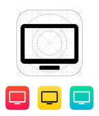 Monitor screen icon. — Vector de stock