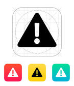 Security warning icon. — Stock Vector