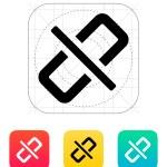Broken link icon. — Stock Vector