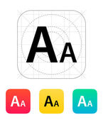 Font size icon. — Stock Vector