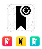 Bookmark synchronization icon. — Stock Vector