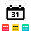 Stock Vector: Calendar date icon.