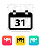 Calendar date icon. — Stock Vector