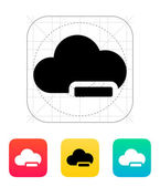 Cloud computing with minus icon. — Stock Vector