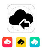 Cloud computing with previous arrow icon. — 图库矢量图片