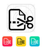 Cut file icon. — Vettoriale Stock
