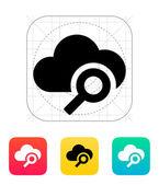 Search cloud computing icon. — Stockvektor