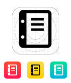 Notepad icon. — Stock Vector