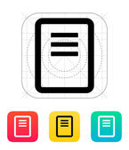 Note page icon. — Stock Vector