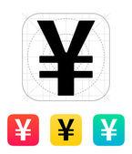 Chinesische yuan-symbol. — Stockvektor