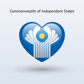 Love Commonwealth of Independent States symbol. — Stock Vector