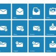 Envelope icons on blue background. — Stock Vector