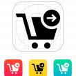 Shopping cart icon. — Stock Vector