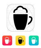 Foam Coffee icon. — Stock Vector
