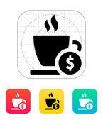 Cup price icon. — Stock Vector