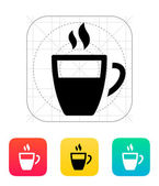 Half coffee cup icon. — Stock Vector