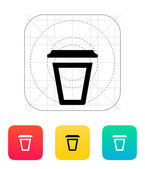 Empty plastic cup icon. — ストックベクタ