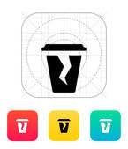 Damaged cup icon. — Stock Vector