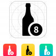 Beer bottle with number icon. — Stock Vector