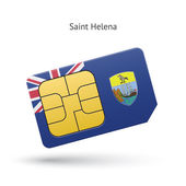 Saint Helena mobile phone sim card with flag. — Stock Vector