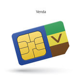 Venda mobile phone sim card with flag. — Stock Vector