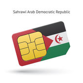 Sahrawi Arab Democratic Republic phone sim card with flag. — Stock Vector
