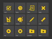 Application interface icons. — Stock Vector