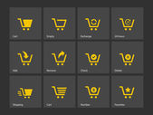 Shopping cart icons. — Stock Vector