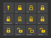 Locks icons. — Stock Vector