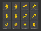Microphone icons. — Stock Vector