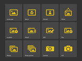 Photographs and Camera icons. — Stock vektor