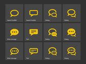 Speech bubble icons. — Stock Vector