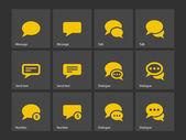 Message bubble icons. — Vector de stock