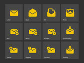 Mail icons. — Stock Vector