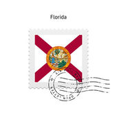 State of Florida flag postage stamp. — Cтоковый вектор