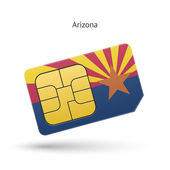 State of Arizona phone sim card with flag. — Vettoriale Stock