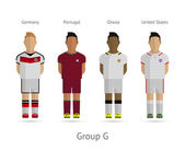 Football teams. Group G - Germany, Portugal, Ghana, United States — Vettoriale Stock