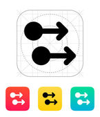 Two Finger drag right gesture abstract icon. — Cтоковый вектор