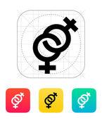 Lesbian icon. — Stock Vector