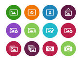 Photographs and Camera circle icons. — Stock Vector