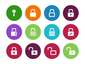 Locks circle icons on white background. — Stock Vector