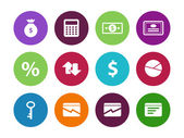 Economy circle icons on white background. — Stock Vector