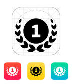 First place medal icon. — Stock Vector
