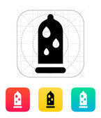 Condom and Water lubrication icon. — Stock Vector