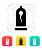 Condom with Spermatozoid icon. — Wektor stockowy