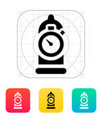 Condom with sex timer icon. — Vettoriale Stock