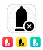 Defect condom icon. — Vector de stock