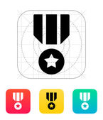 Military medal icon. — Stock Vector