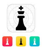Chess king ikonen. — Stockvektor