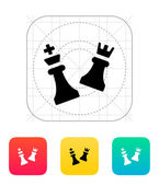 Chess attack icon. — Vector de stock